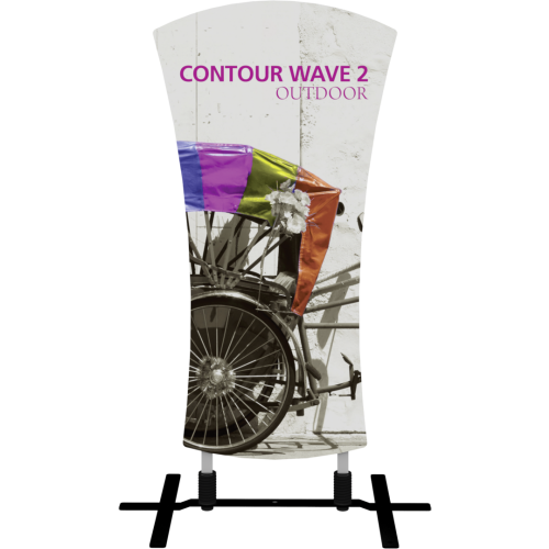 Contour Outdoor Sign Wave 2 - Plate Base