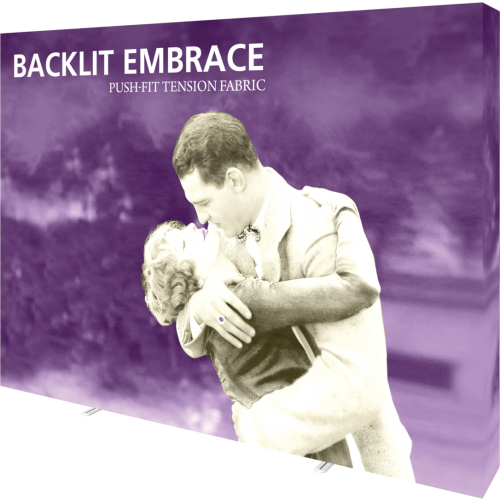 Embrace 10ft Backlit Full Height Push-Fit Tension Fabric Display