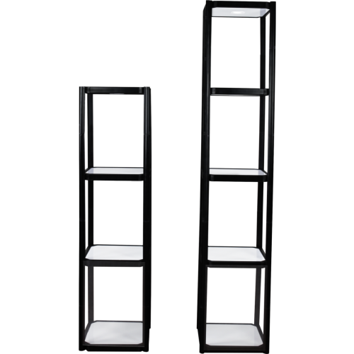 Twist Portable Display Cabinet With 3 Shelves